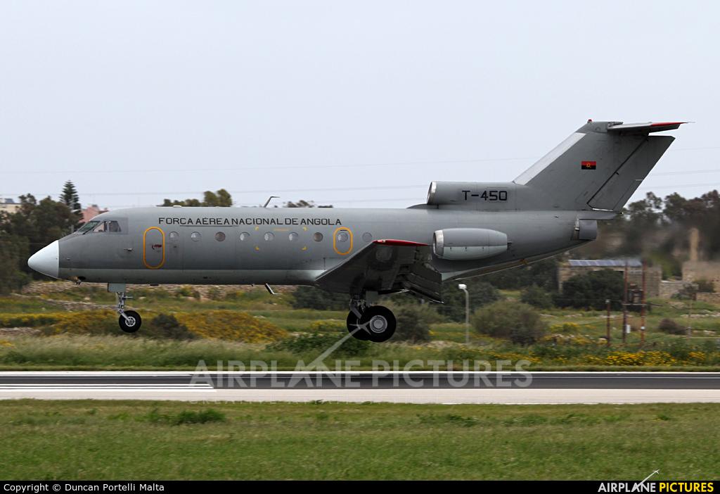 Angola - Air Force T-450 aircraft at Malta Intl