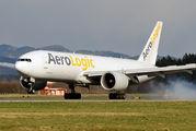 AeroLogic Boeing 777-200F first ever visit in Ljubljana - Brnik title=