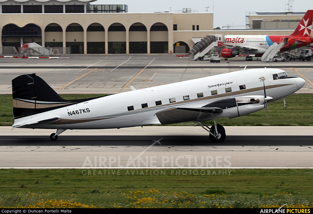 N467KS  Priority Air Charter Douglas DC3TP Turbo Dakota At Malta Intl  Pho