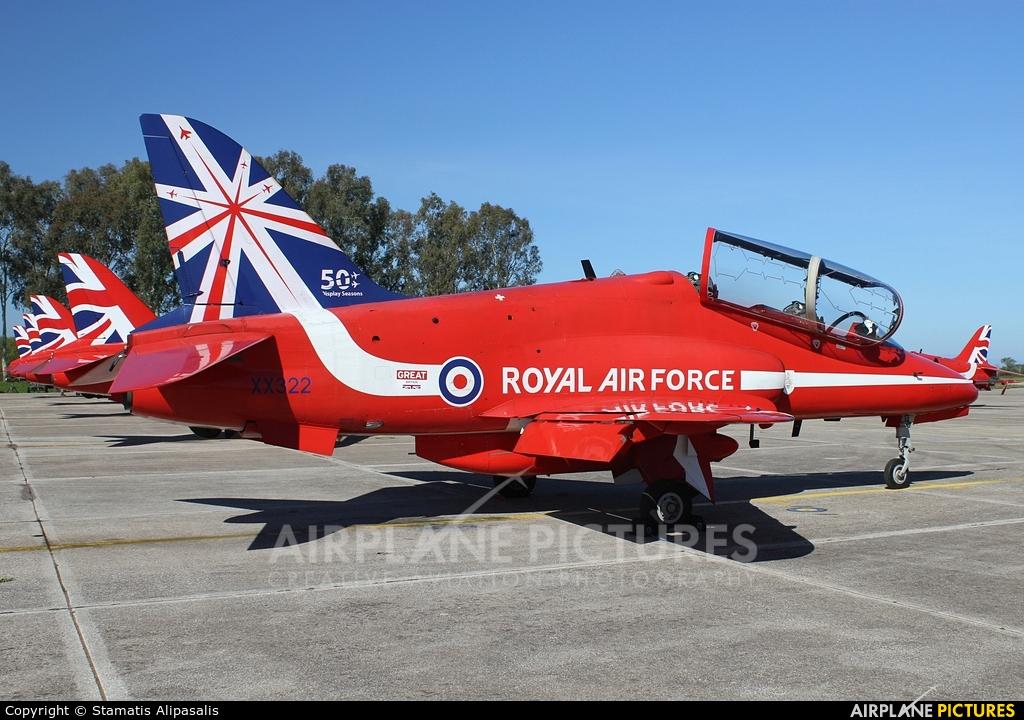"""Royal Air Force """"Red Arrows"""" XX322 aircraft at Andravida AB"""