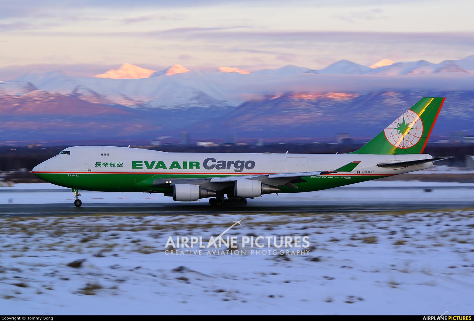 Eva Air B-16482 aircraft at Anchorage - Ted Stevens Intl / Kulis Air National Guard Base
