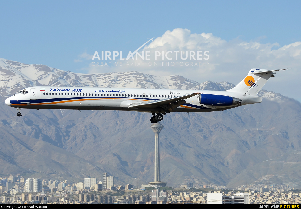 Taban Airlines EP-TBE aircraft at Tehran - Mehrabad Intl