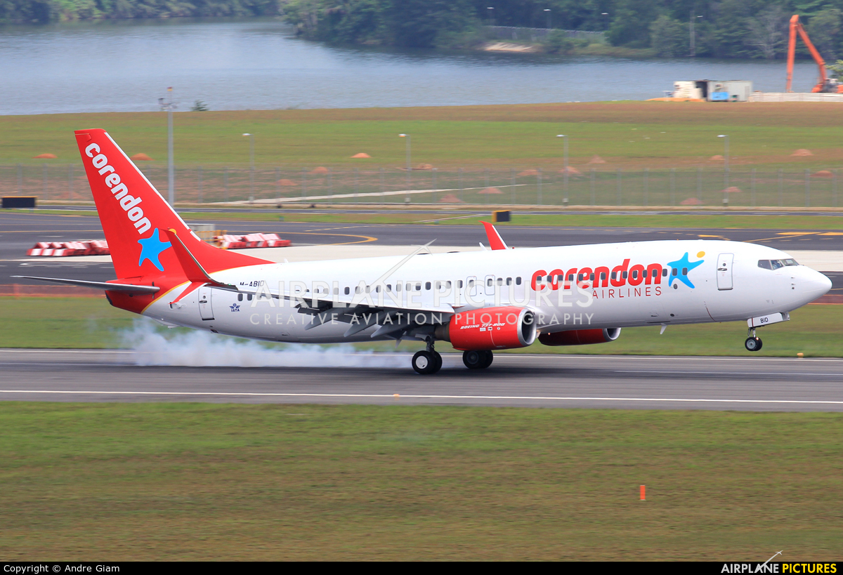 Corendon Airlines M-ABID aircraft at Singapore - Changi