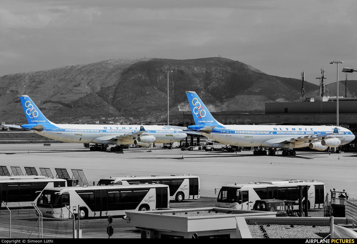 Olympic Airlines SX-DFC aircraft at Athens - Eleftherios Venizelos