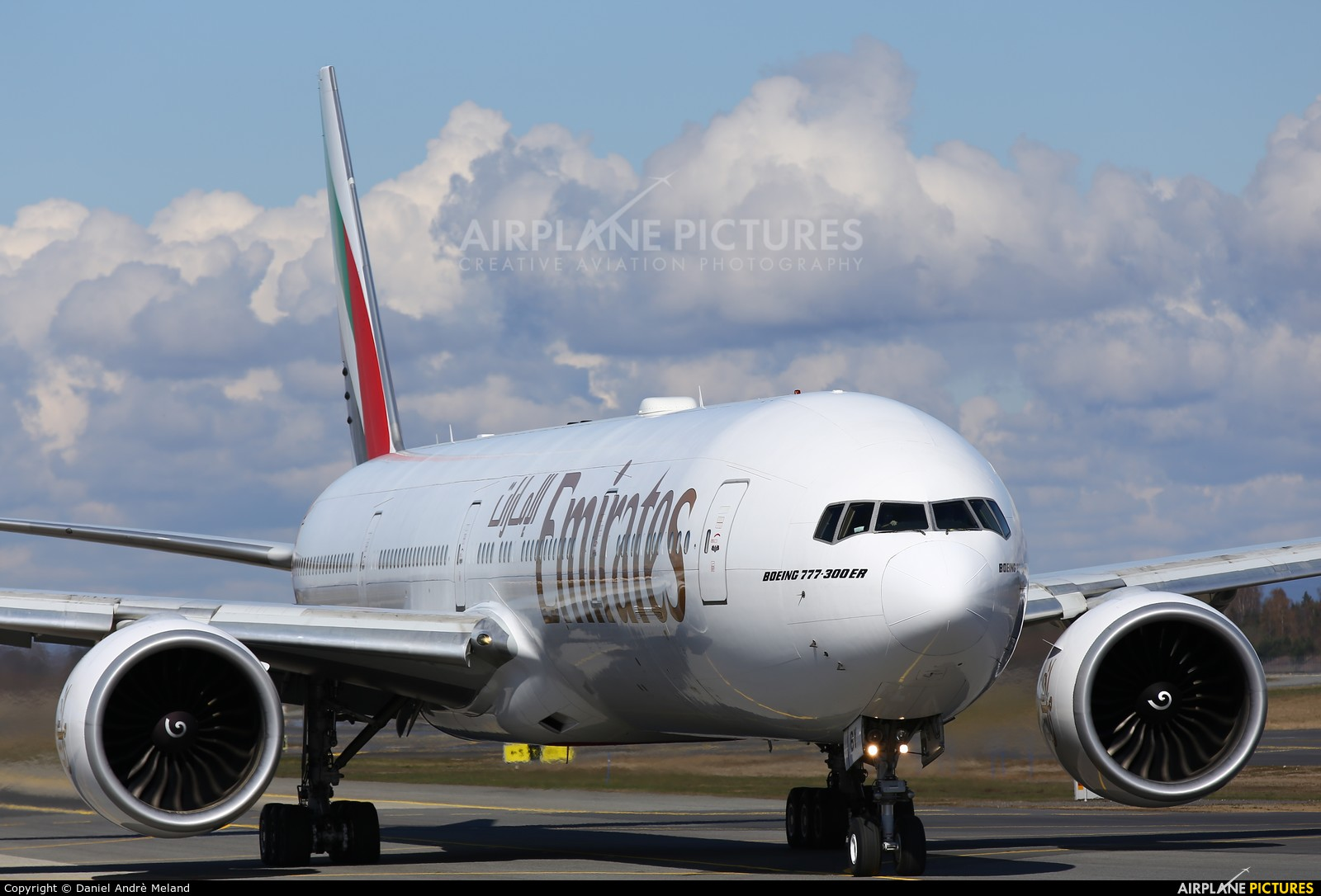 Emirates Airlines A6-EBY aircraft at Oslo - Gardermoen