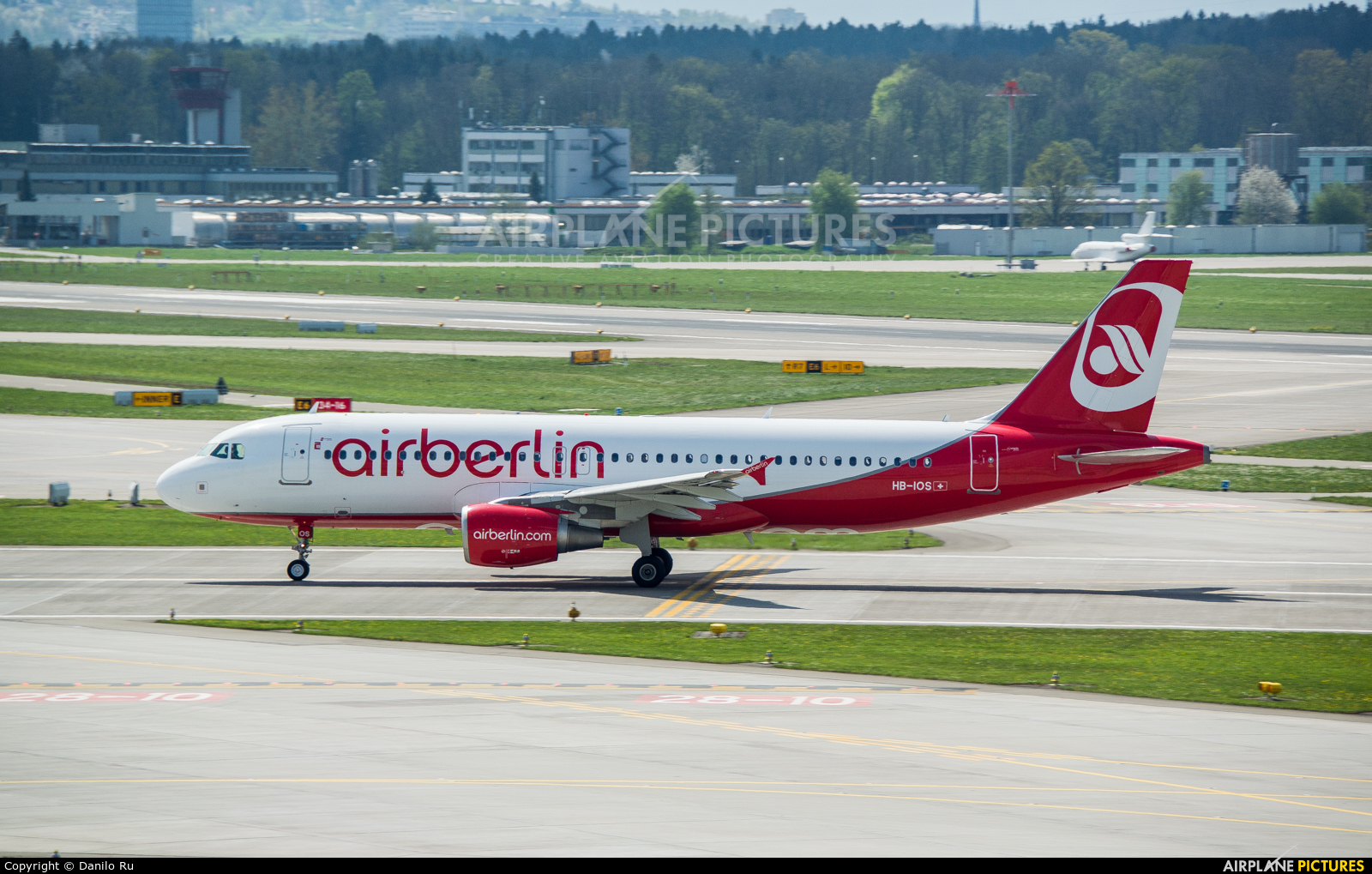 Air Berlin - Belair HB-IOS aircraft at Zurich