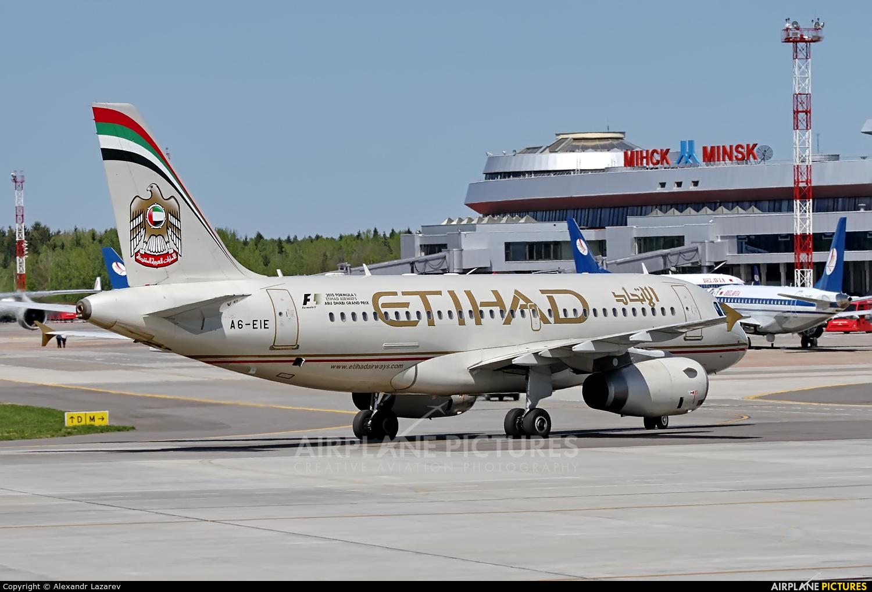 Etihad Airways A6-EIE aircraft at Minsk Intl