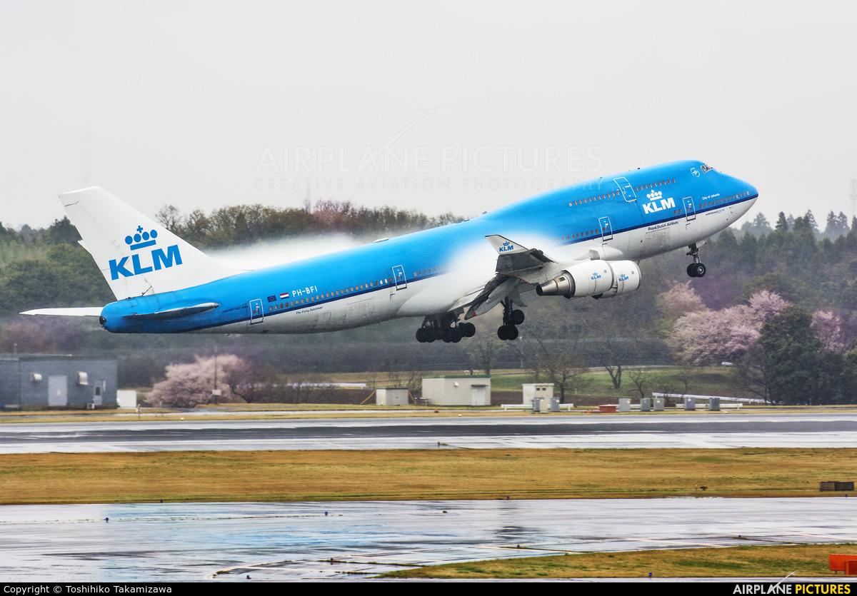 KLM PH-BFI aircraft at Tokyo - Narita Intl
