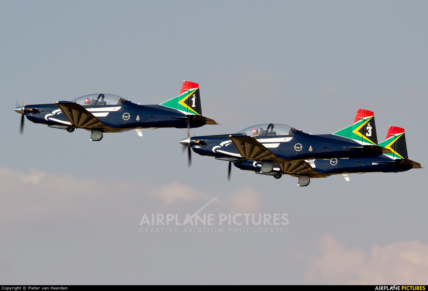 South Africa - Air Force: Silver Falcons 2018 aircraft at Swartkops