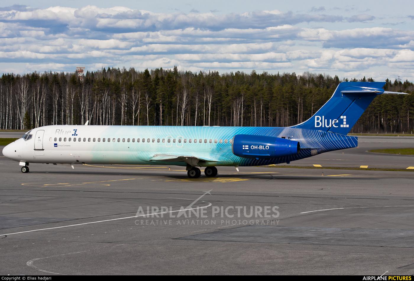 Blue1 OH-BLO aircraft at Helsinki - Vantaa