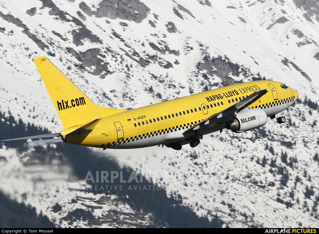 Hapag Lloyd Express D-AGER aircraft at Innsbruck