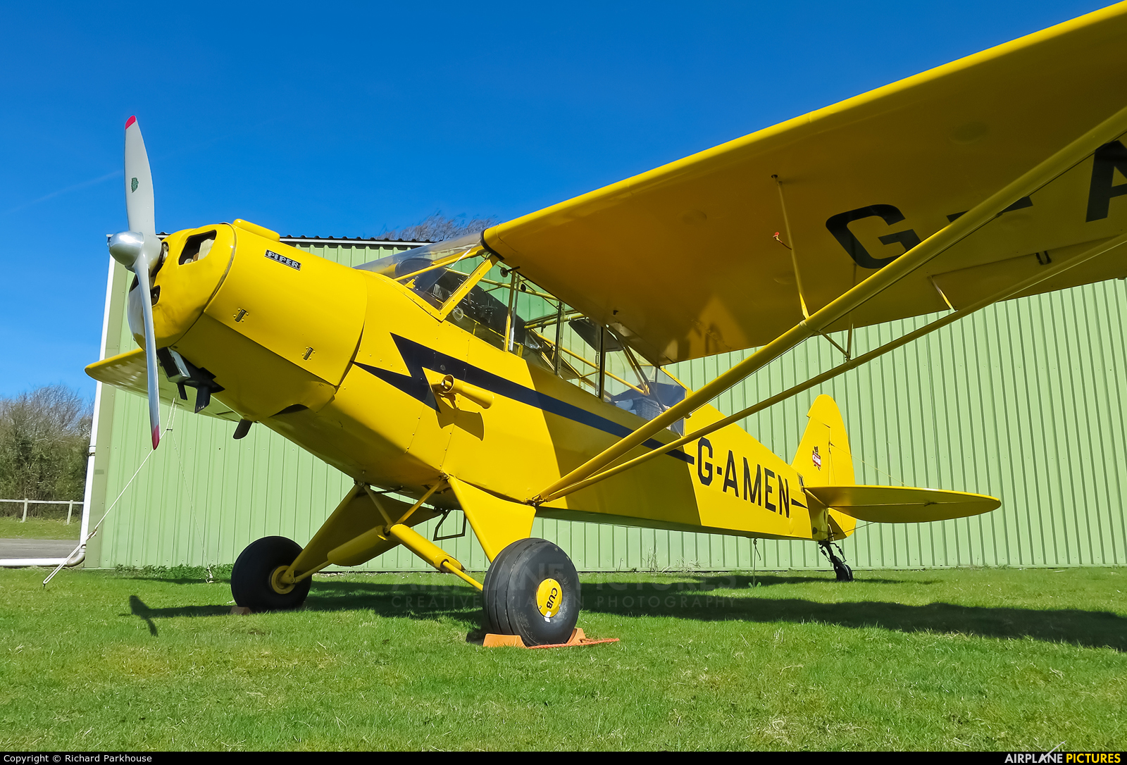 Private G-AMEN aircraft at Popham