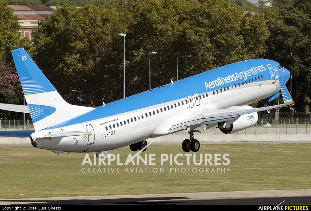 Aerolineas Argentinas LV-FQZ aircraft at Buenos Aires - Jorge Newbery