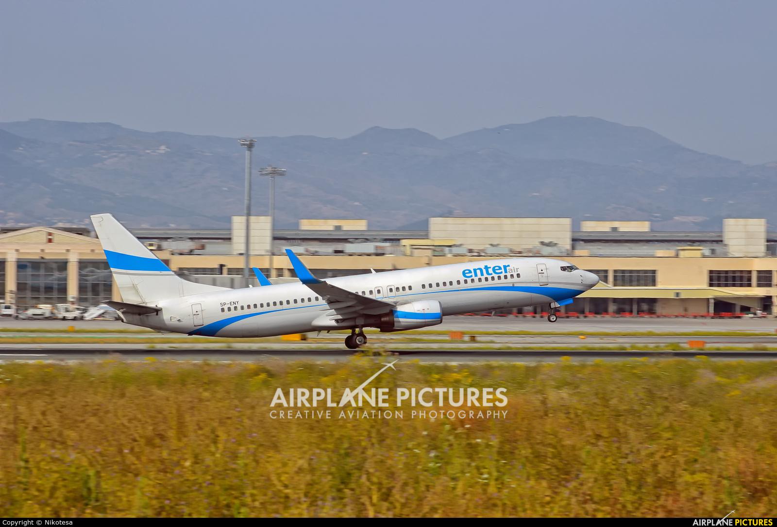 Enter Air SP-ENY aircraft at Málaga