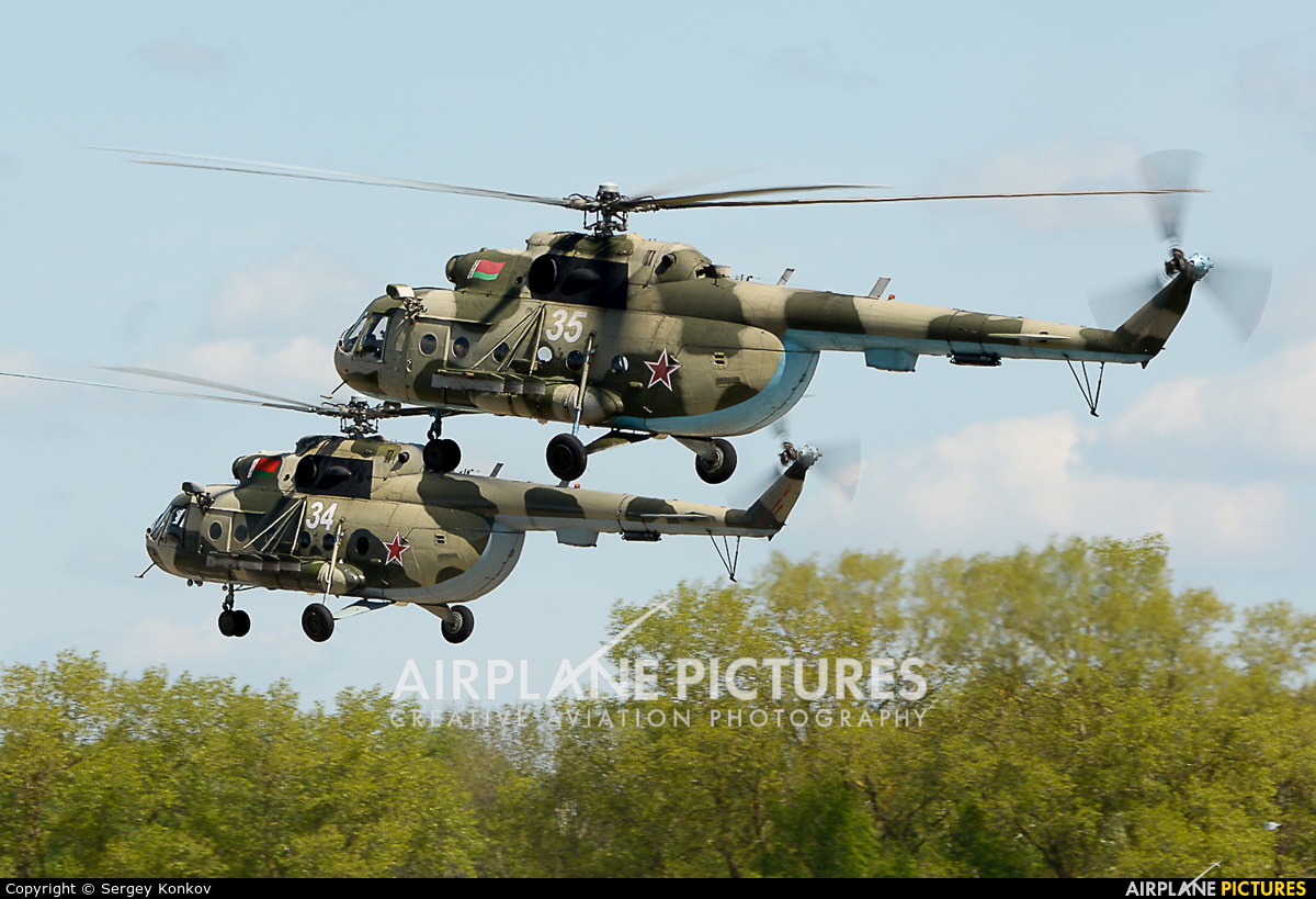 Belarus - Air Force 35 aircraft at Minsk Machulishchi