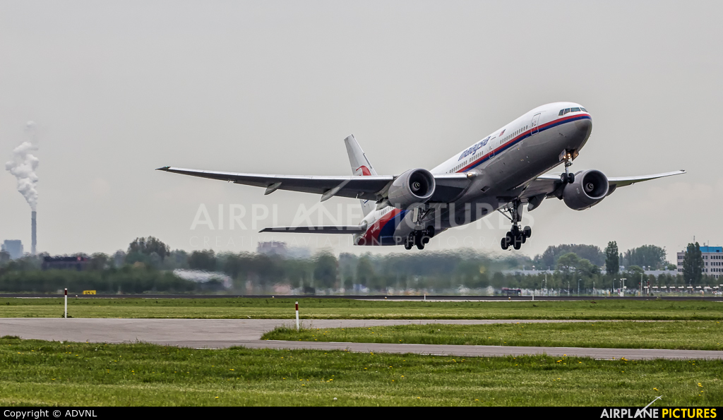 Malaysia Airlines 9M-MRE aircraft at Amsterdam - Schiphol