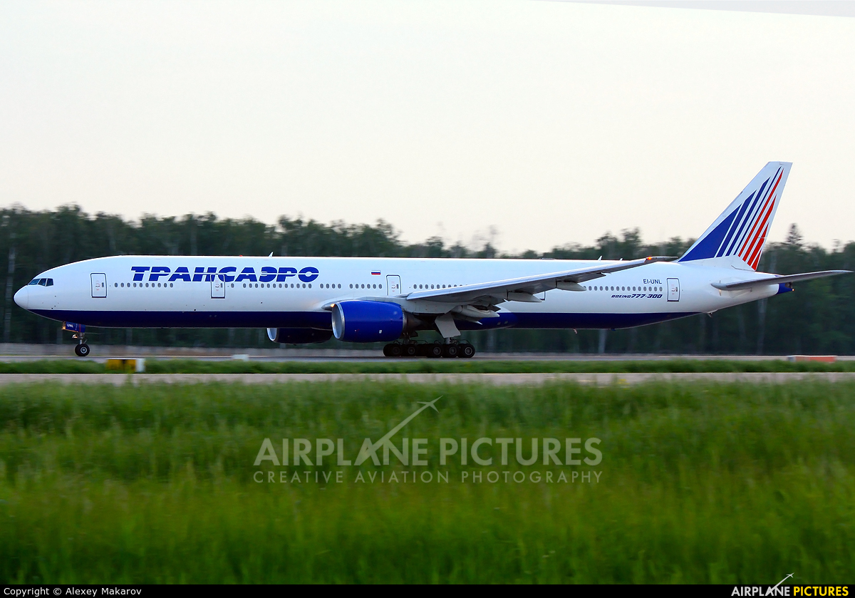 Transaero Airlines EI-UNL aircraft at Moscow - Domodedovo