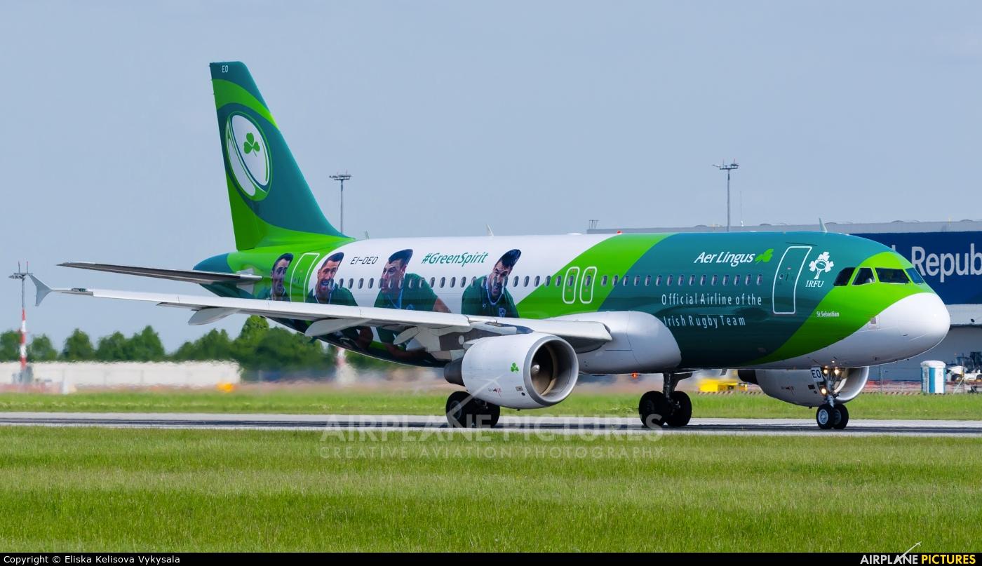 Aer Lingus EI-DEO aircraft at Prague - Václav Havel