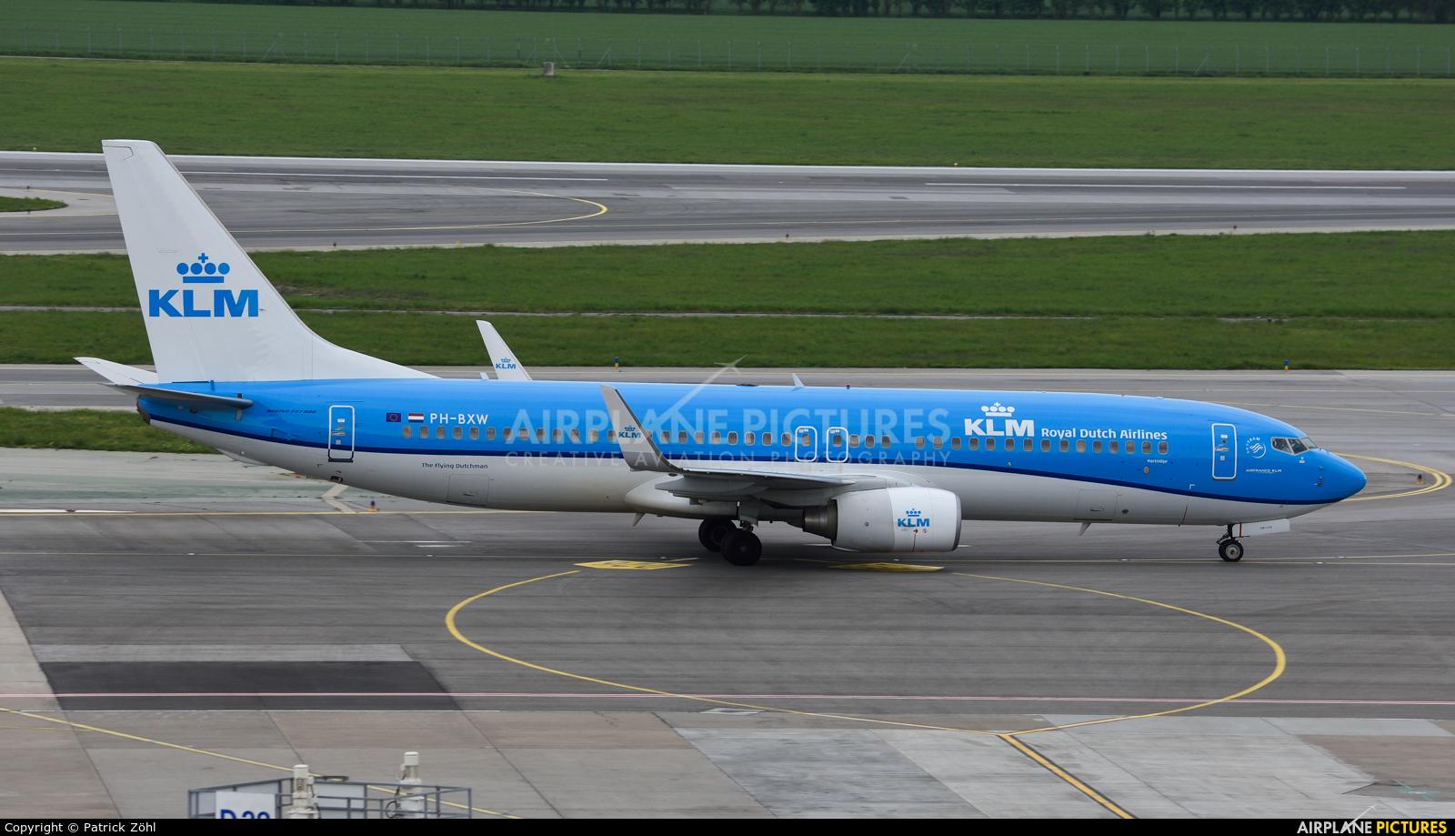 KLM PH-BXW aircraft at Vienna - Schwechat