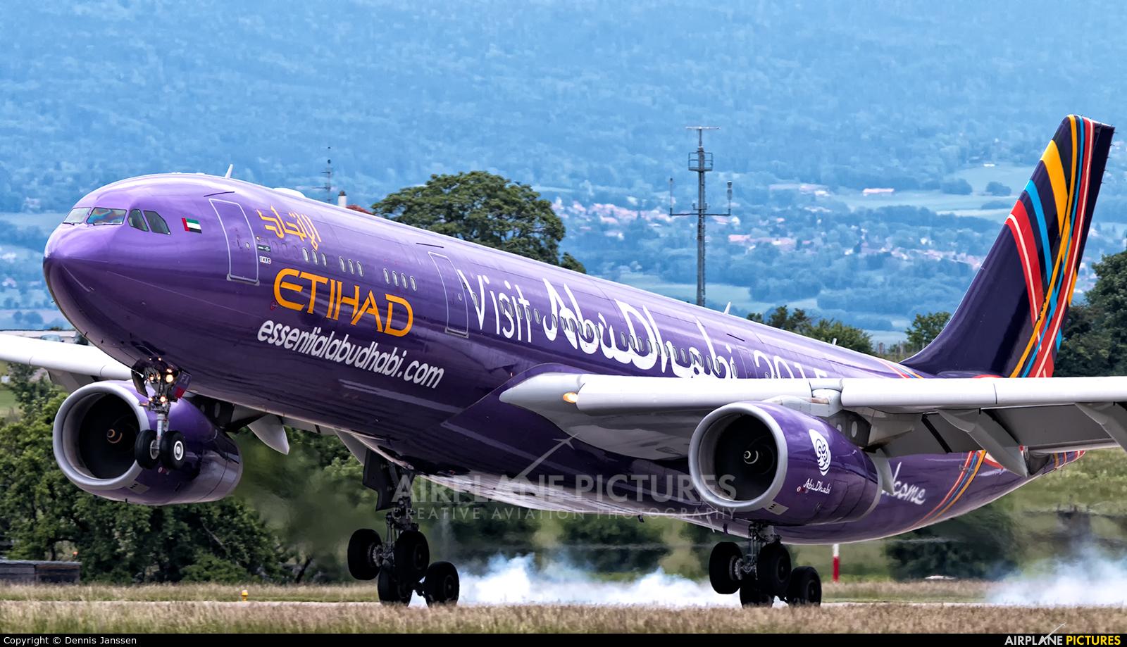 Etihad Airways A6-AFA aircraft at Geneva Intl