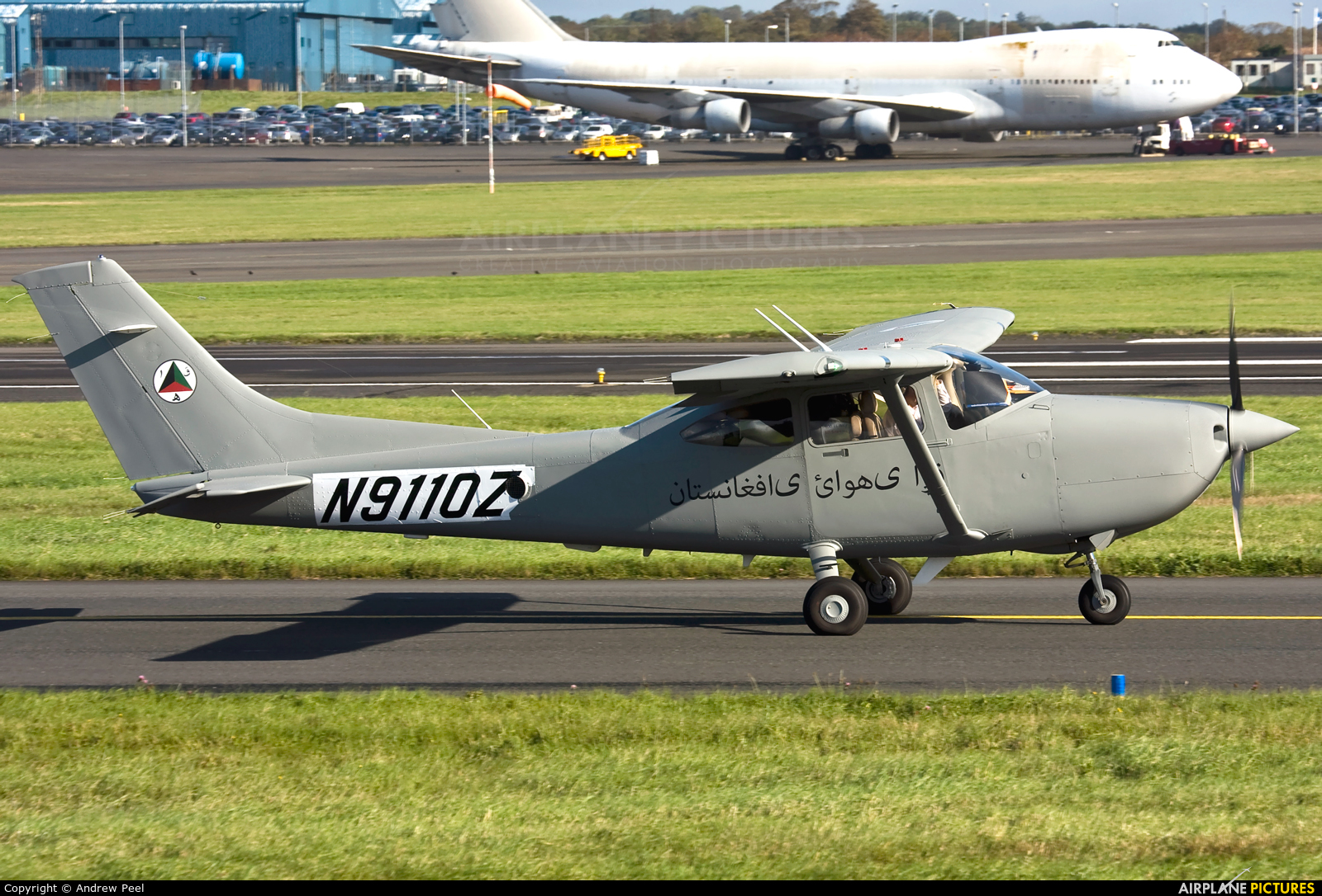Afghanistan - Air Force N9110Z aircraft at Prestwick