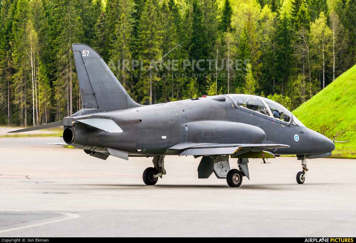 Finland - Air Force: Midnight Hawks HW-357 aircraft at Tampere-Pirkkala