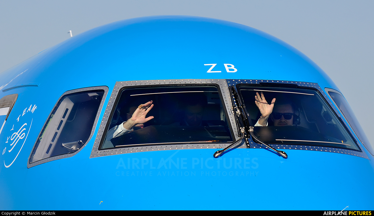 KLM Cityhopper PH-EZB aircraft at Kraków - John Paul II Intl