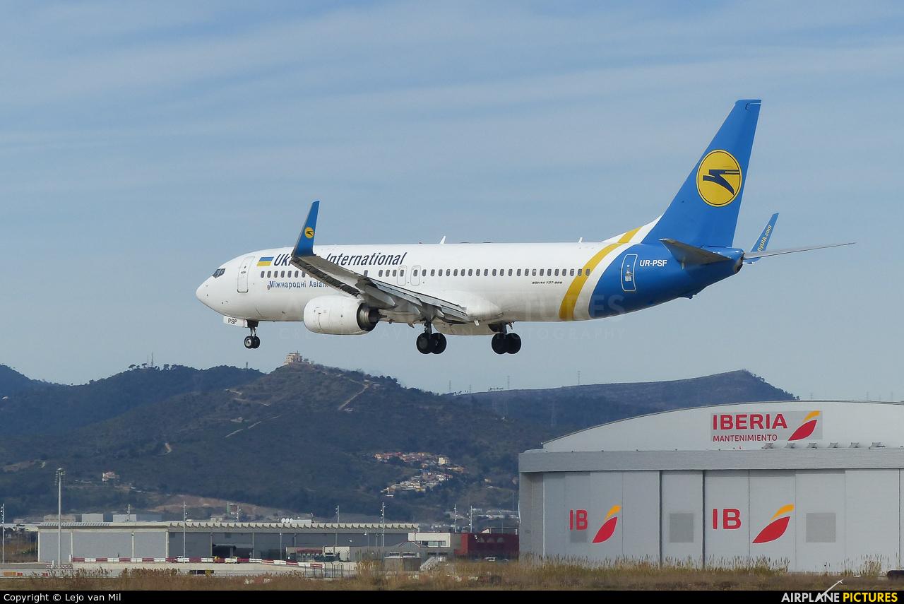 Ukraine International Airlines UR-PSF aircraft at Barcelona - El Prat