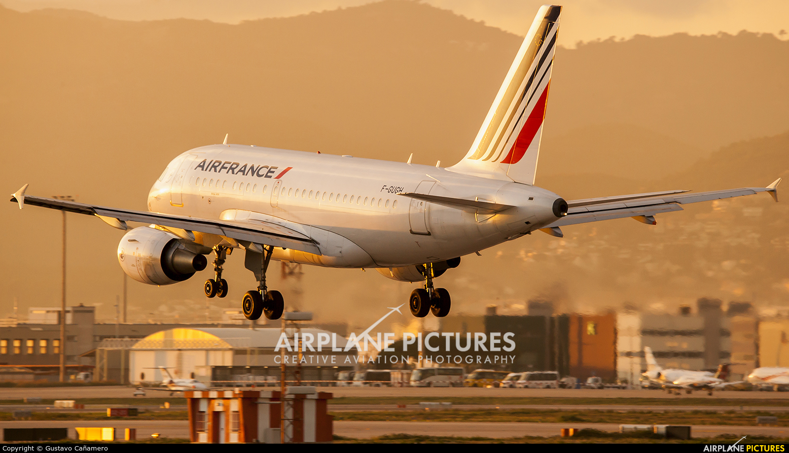 Air France F-GUGH aircraft at Barcelona - El Prat
