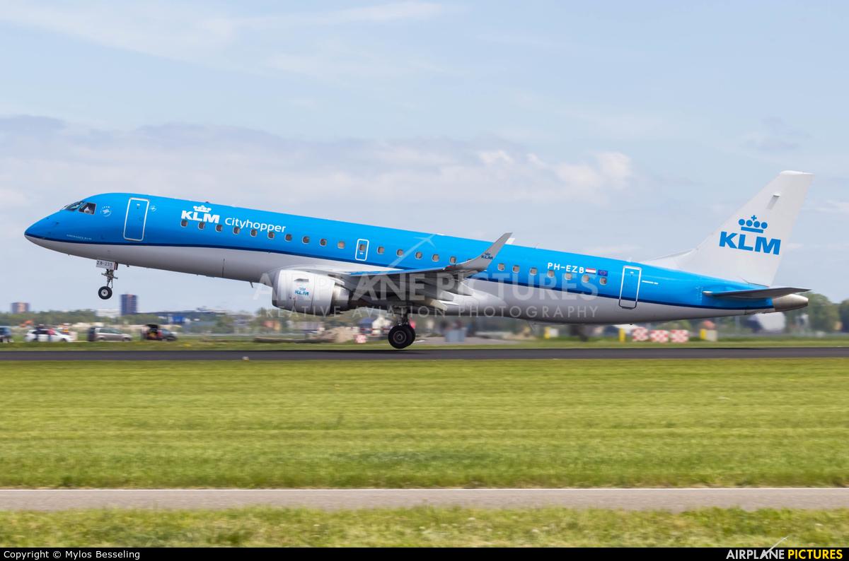 KLM Cityhopper PH-EZB aircraft at Amsterdam - Schiphol