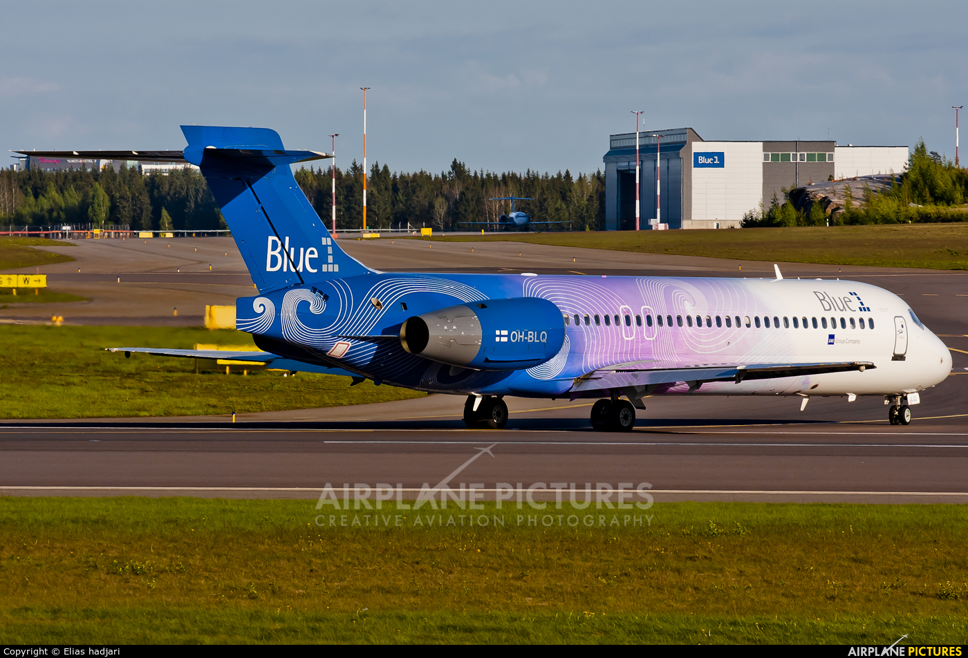 Blue1 OH-BLQ aircraft at Helsinki - Vantaa