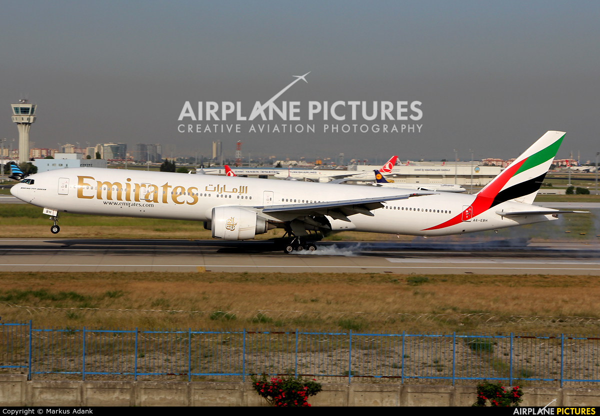 Emirates Airlines A6-EBH aircraft at Istanbul - Ataturk