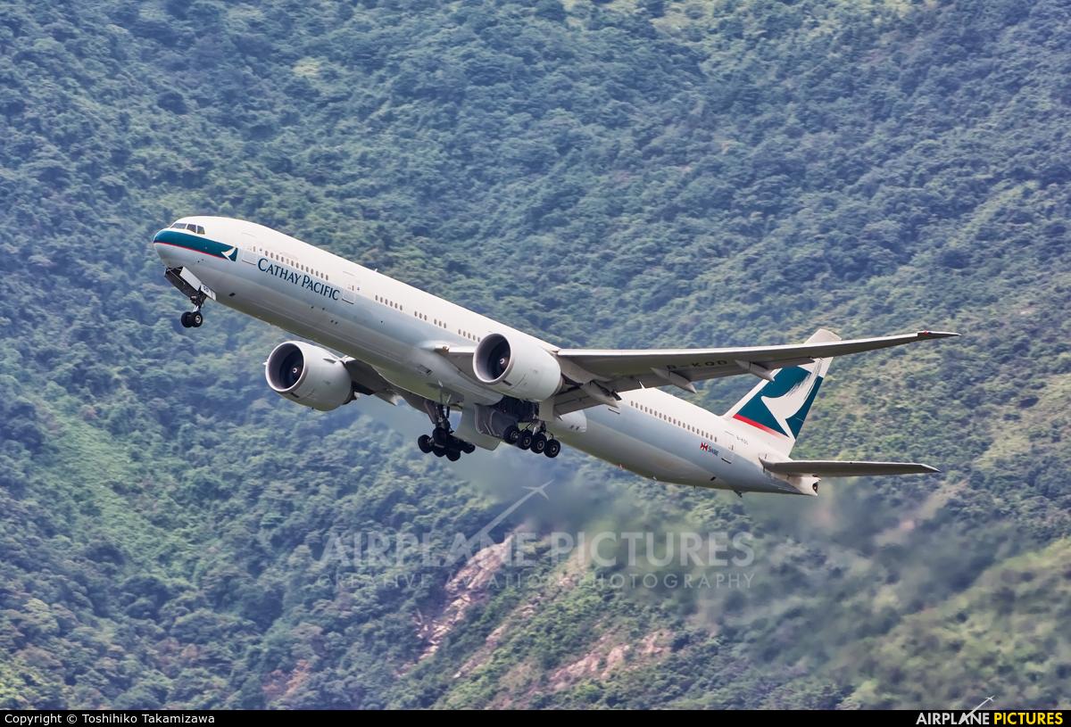 Cathay Pacific B-KQD aircraft at HKG - Chek Lap Kok Intl