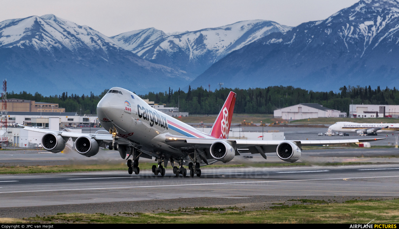 Cargolux LX-VCJ aircraft at Anchorage - Ted Stevens Intl / Kulis Air National Guard Base