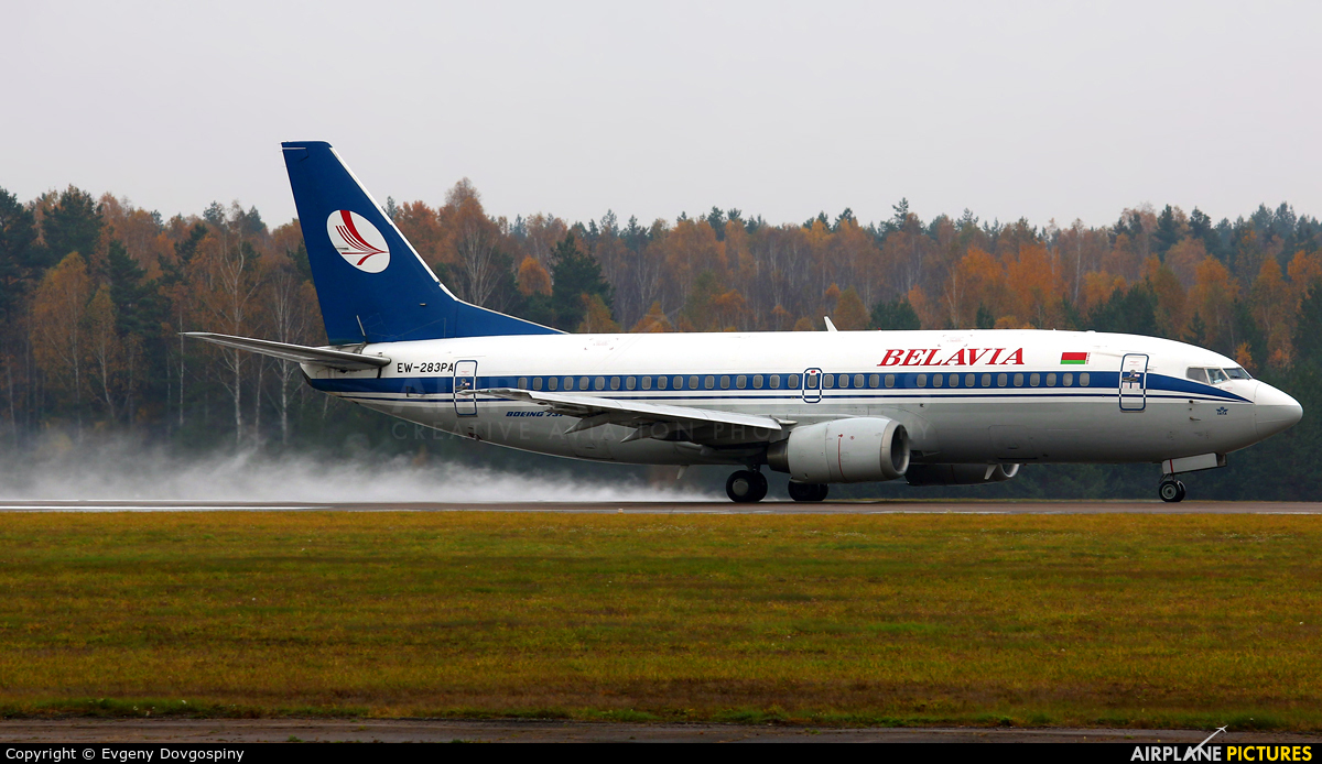 Belavia EW-283PA aircraft at Minsk Intl