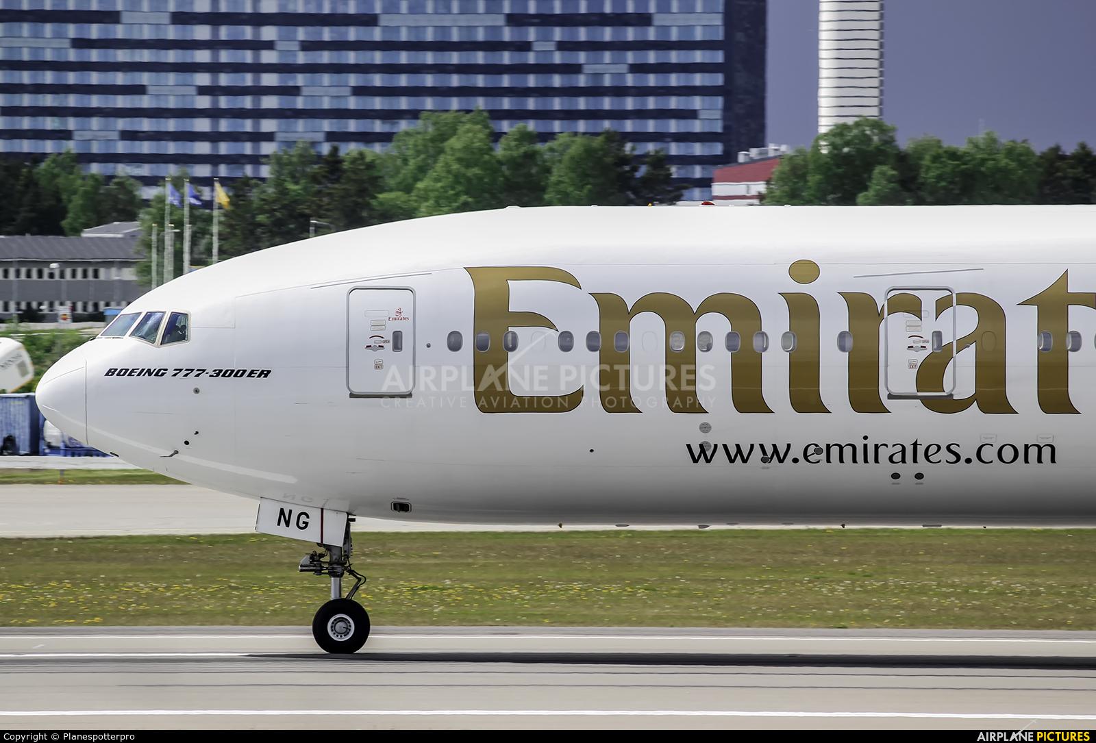 Emirates Airlines A6-ENG aircraft at Stockholm - Arlanda