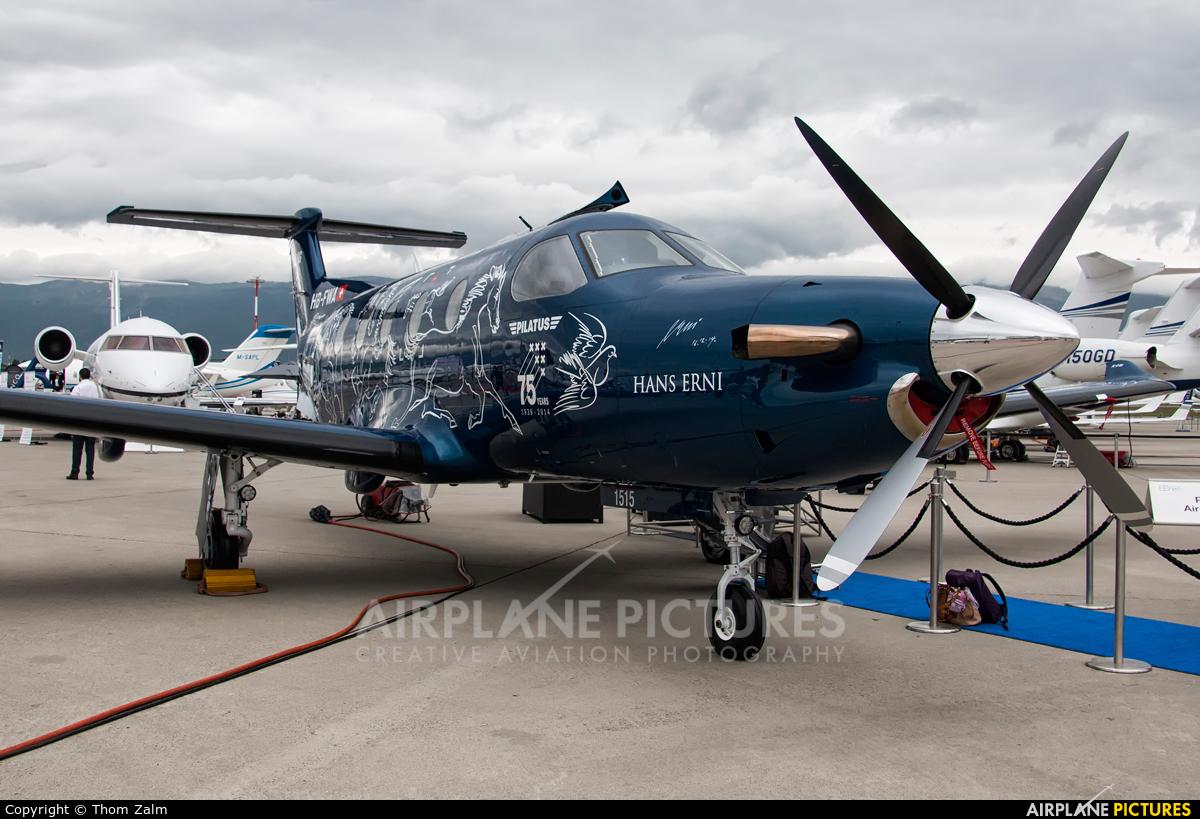Pilatus HB-FWA aircraft at Geneva Intl