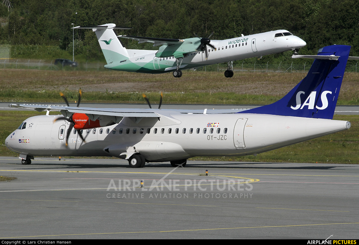 SAS - Scandinavian Airlines OY-JZC aircraft at Tromsø
