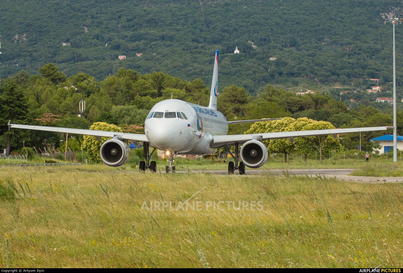 Ural Airlines VP-BKB aircraft at Tivat