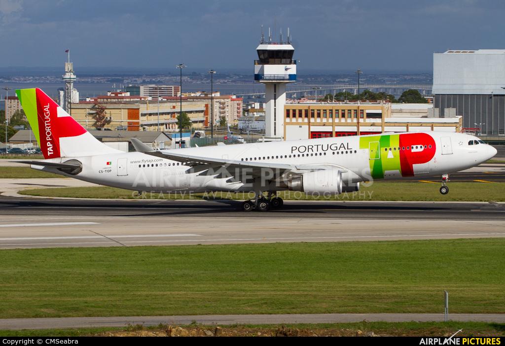 TAP Portugal CS-TOP aircraft at Lisbon