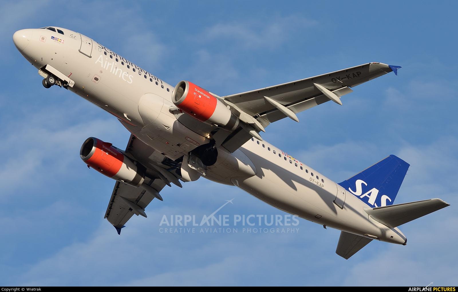 SAS - Scandinavian Airlines OY-KAP aircraft at Gdańsk - Lech Wałęsa