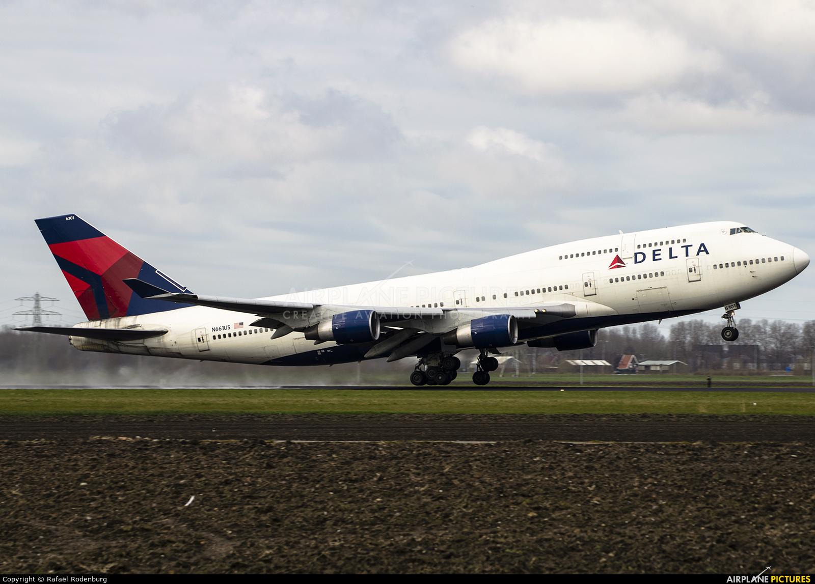Delta Air Lines N661US aircraft at Amsterdam - Schiphol