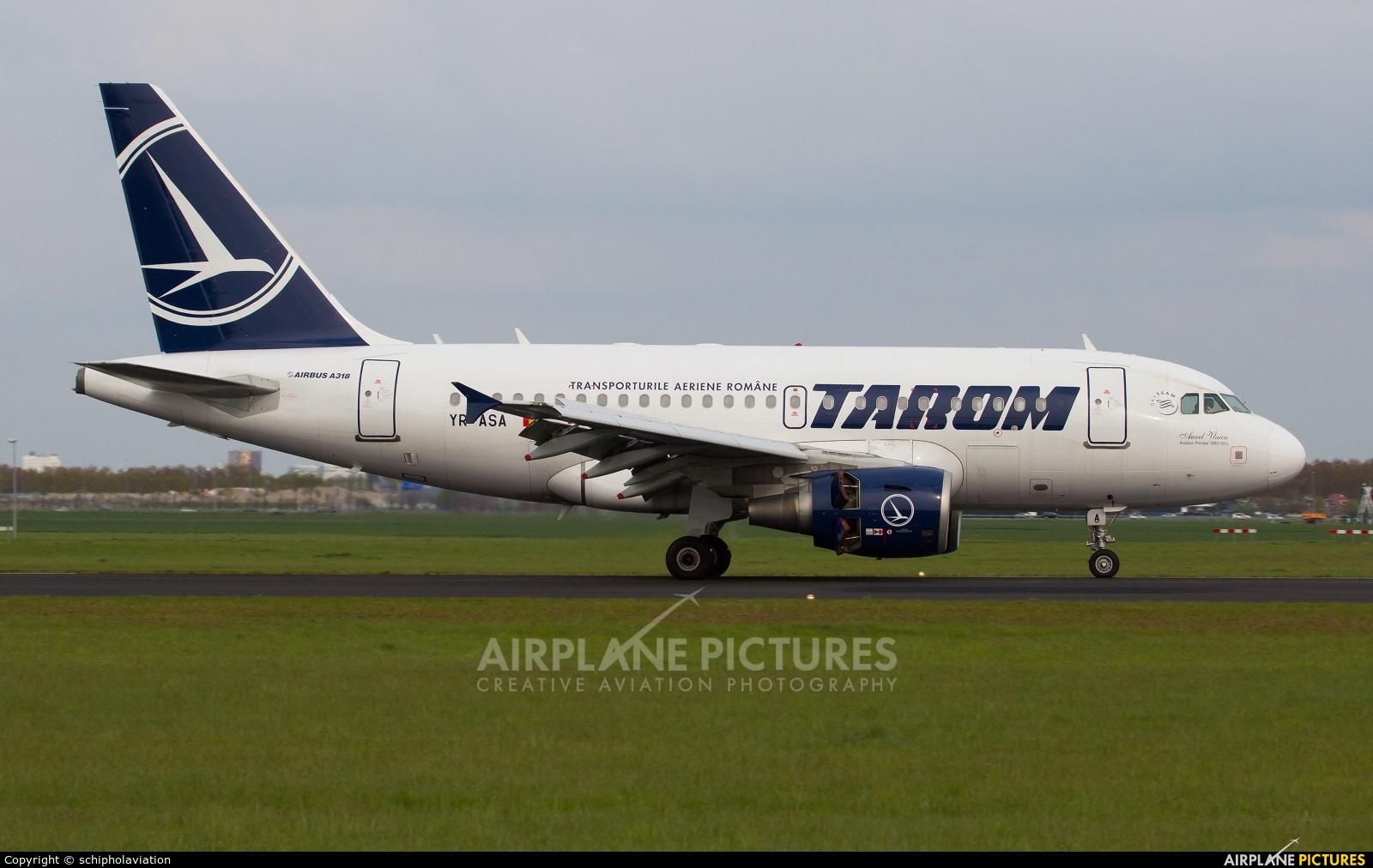 Tarom YR-ASA aircraft at Amsterdam - Schiphol