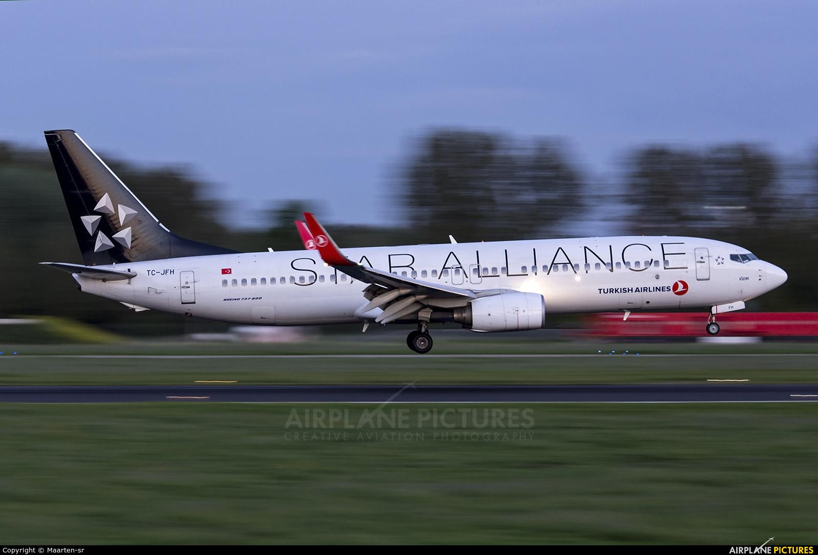 Turkish Airlines TC-JFH aircraft at Rotterdam