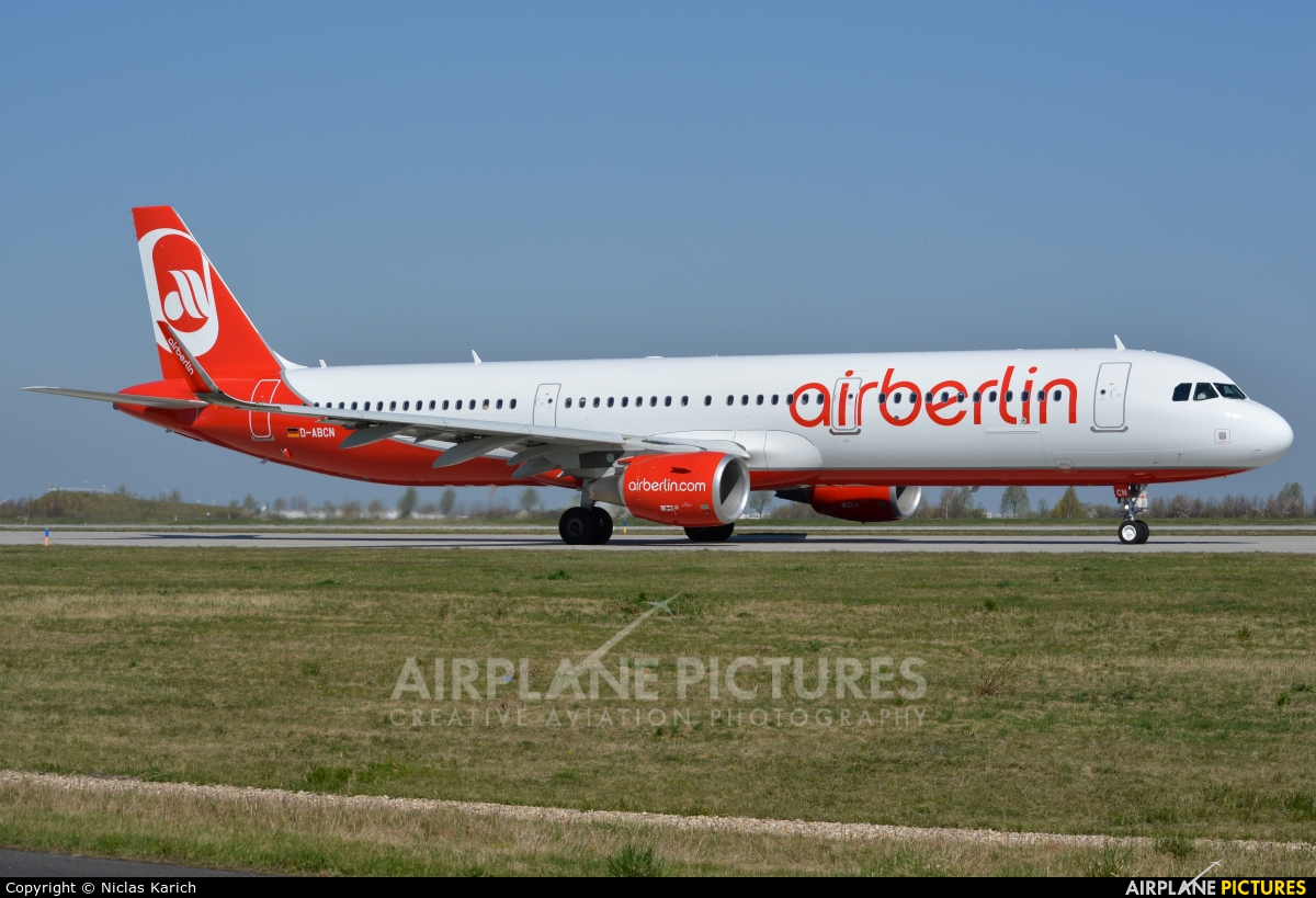 Air Berlin D-ABCL aircraft at Leipzig - Halle