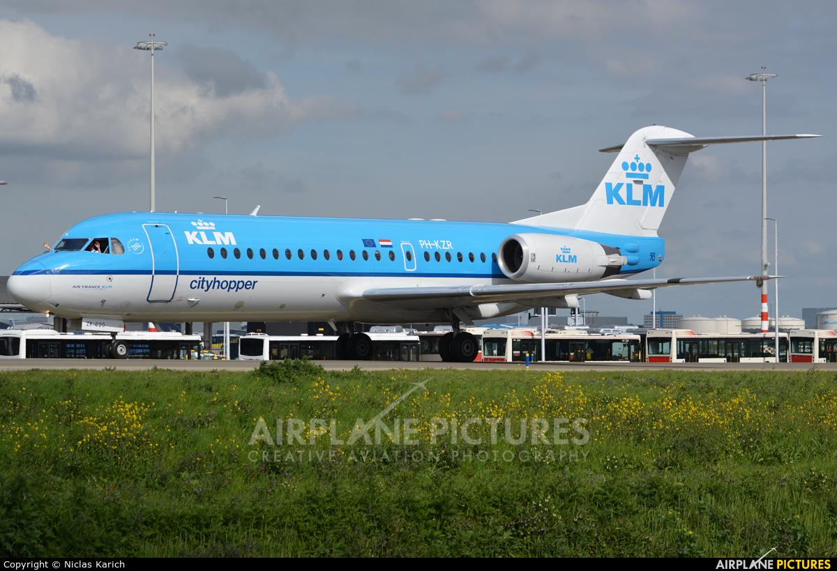 KLM Cityhopper PH-KZR aircraft at Amsterdam - Schiphol