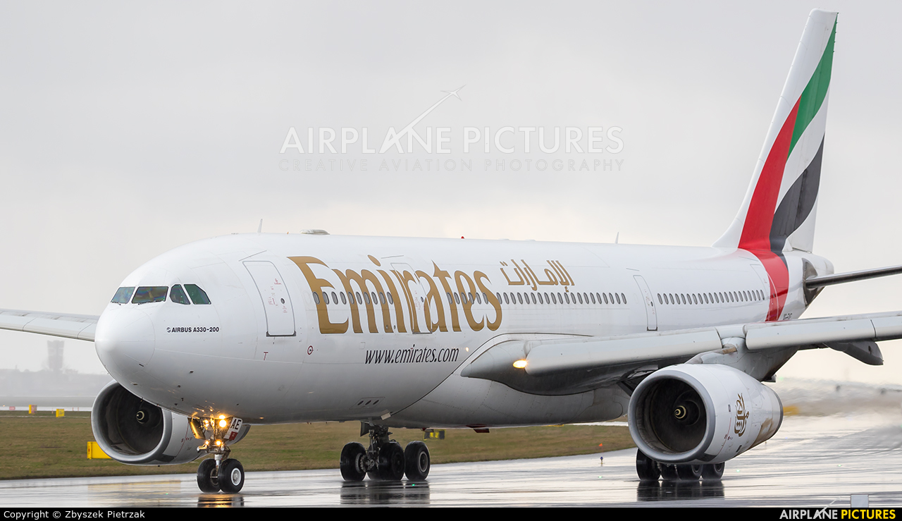 Emirates Airlines A6-EAE aircraft at Warsaw - Frederic Chopin