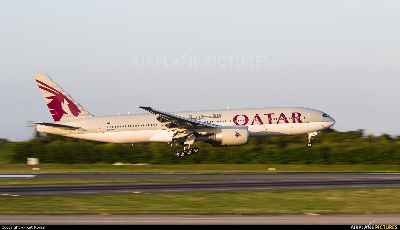 Qatar Airways A7-BBC aircraft at Tokyo - Narita Intl