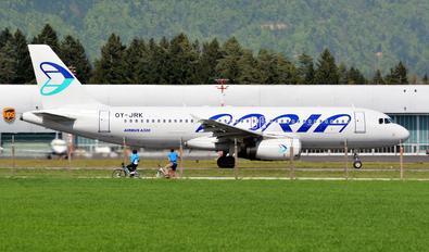 OY-JRK - Adria Airways Airbus A320
