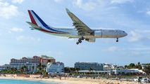 French President arrived on Saint-Martin Island title=